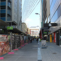 Bank Street during the upgrade