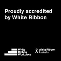 Proudly accredited by White Ribbon | White Ribbon Workplace | White Ribbon Australia