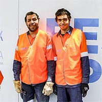 Andrew and Daniel Clarke have a work placement on the Festival Plaza through McMahons and the Renewal SA Works Program