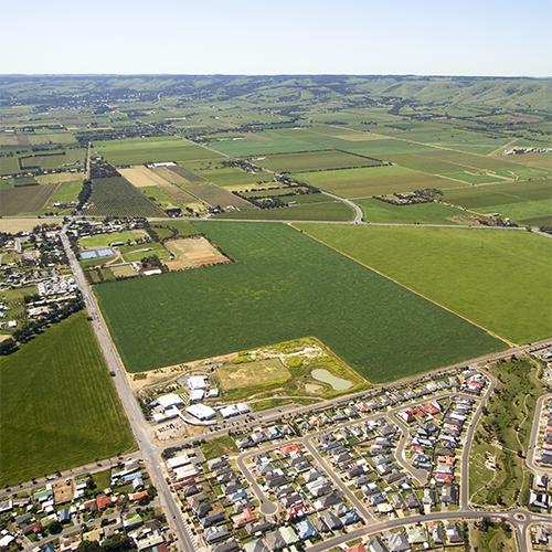 Aerial image of Aldinga structure plan area