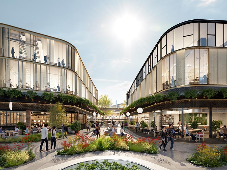 Concept render of retail hub at Tonsley Innovation District