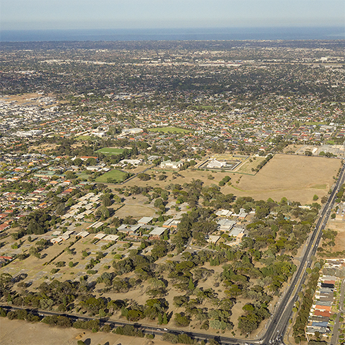 Aerial of Oakden and Gilles Plains, South Australia