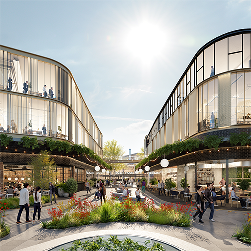 Concept render of the Tonsley retail hub
