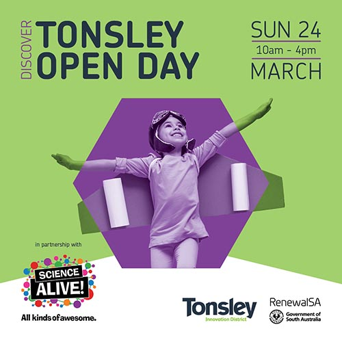 Tonsley Open Day Sun 24 March 10am to 4pm