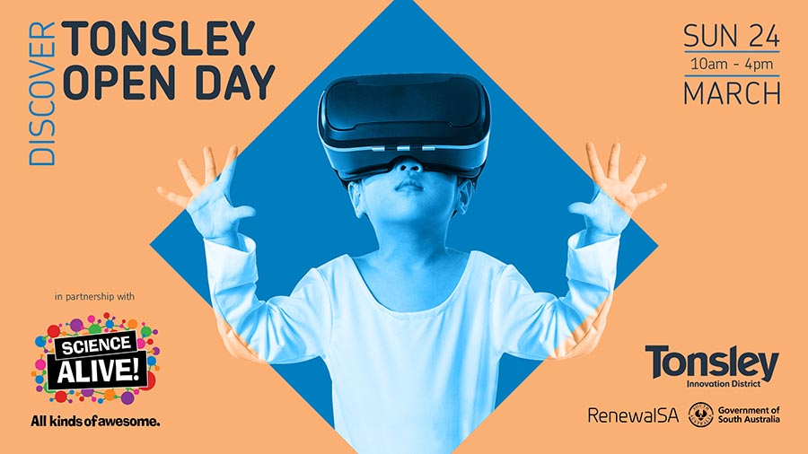 Discover Tonsley Open Day Sun 24 March 10am - 4pm