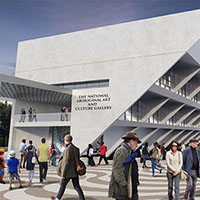 Artist's render of the National Aboriginal Art and Culture Gallery