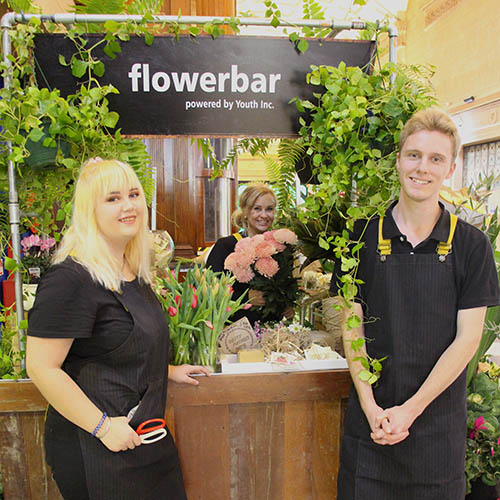 flowerbar powered by Youth Inc at the Adelaide Railway Station
