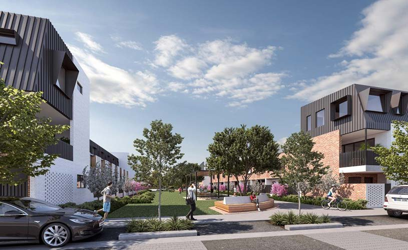 Artist's impression of Guild Terraces in Bowden