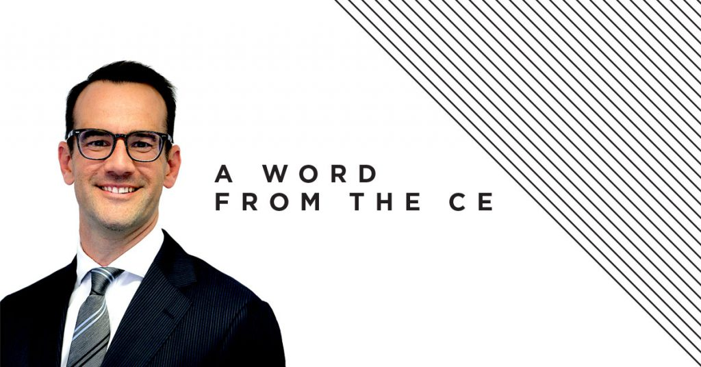 A word from the CE