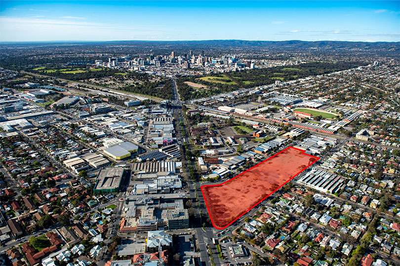 Aerial of Forestville development site