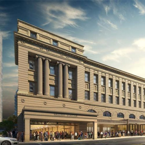 Render of Adelaide Railway station after works are complete