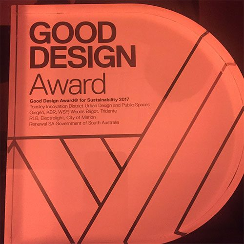 Tonsley 2017 Good Design award