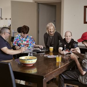 Lighthouse Disability workers with clients