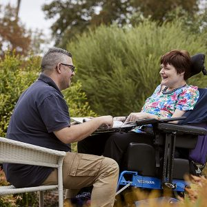 Lighthouse Disability support worker Andreas with client