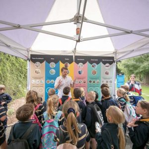 South Australian school children who took part in a major World Environment Day 2019 event at Adelaide Botanic Garden (next door to Lot Fourteen) learning how Renewal SA recycles a hospital and what we can recycle at home.